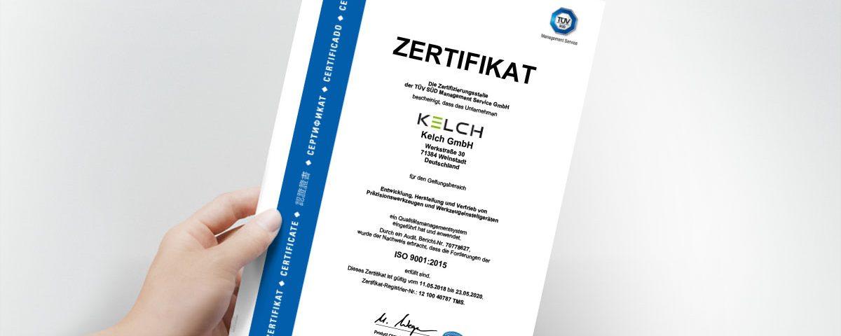 Zertifikat ISO 9001 2018