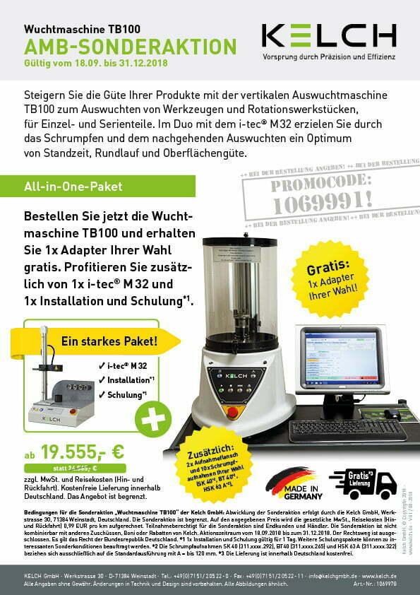 KELCH_Sonderaktion_Wuchtmaschine_TB100_V01_08-2018_DE