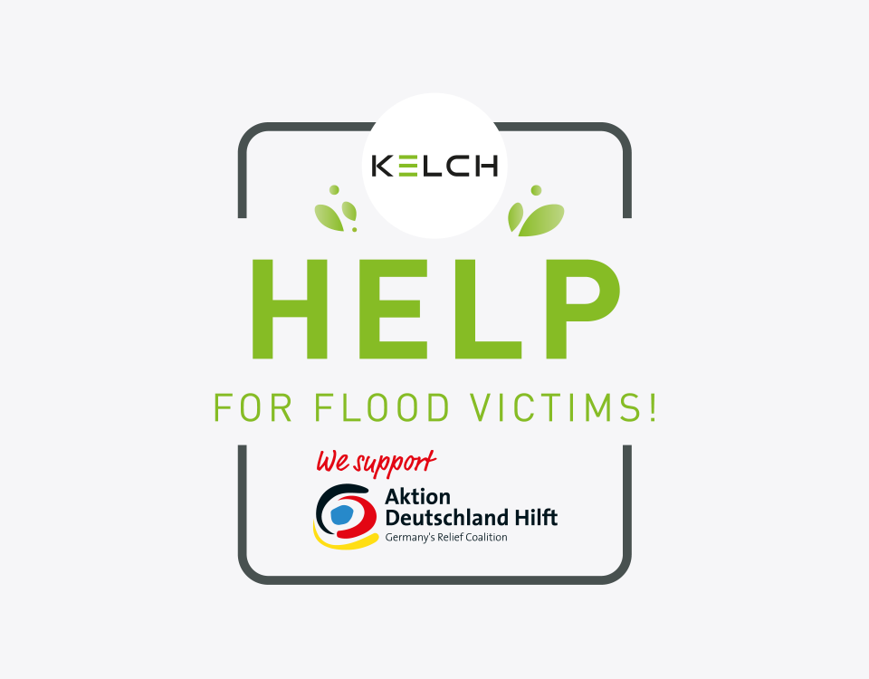 KELCH helps flood victims and supports the aid organisation Aktion Deutschland hilft.